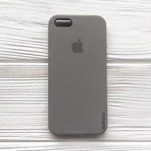 Оригинальный чехол Silicone Case с микрофиброй для Iphone 5 / 5s / 5c /SE  №32 (Cocoa)