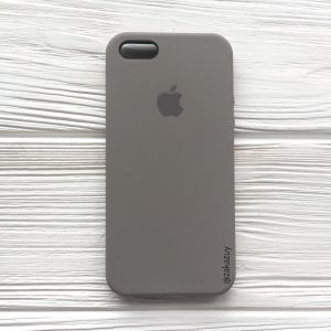 Оригинальный чехол Silicone Case с микрофиброй для Iphone 5 / 5s / 5c /SE  №32 (Cocoa)