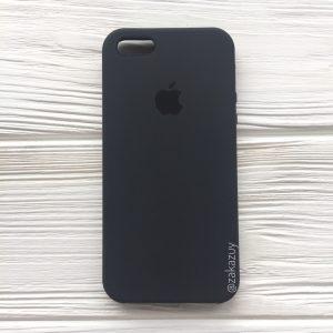Оригинальный чехол Silicone Case с микрофиброй для Iphone 5 / 5s / 5c / SE №37 (Dark Grey)