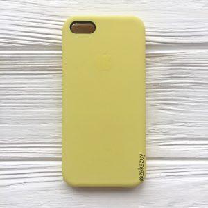 Оригинальный чехол Silicone Case с микрофиброй для Iphone 5 / 5s / 5c / SE №38 (Flash)