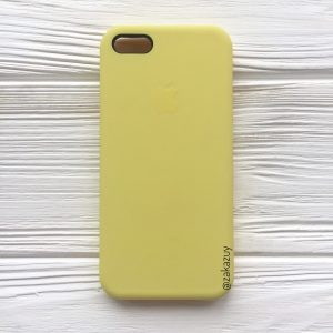 Оригинальный чехол Silicone Case с микрофиброй для Iphone 5 / 5s / 5c / SE №38 (Flash)