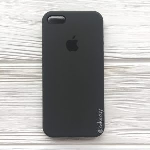 Оригинальный чехол Silicone Case с микрофиброй для Iphone 5 / 5s / 5c / SE №3 (Grey)