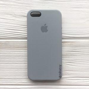 Оригинальный чехол Silicone Case с микрофиброй для Iphone 5 / 5s / 5c / SE №33 (Light Blue)