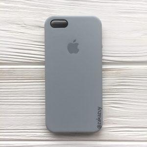Оригинальный чехол Silicone Case с микрофиброй для Iphone 5 / 5s / SE №33 (Light Blue)
