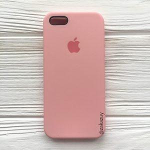 Оригинальный чехол Silicone Case с микрофиброй для Iphone 5 / 5s / 5c / SE №14 (Light Pink)