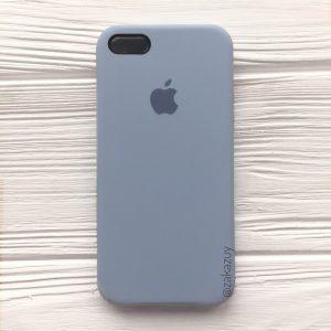 Оригинальный чехол Silicone Case с микрофиброй для Iphone 5 / 5s / 5c / SE №15 (Lilac cream)