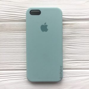 Оригинальный чехол Silicone Case с микрофиброй для Iphone 5 / 5s / 5c / SE №21 (Light Mint)