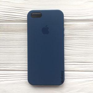 Оригинальный силиконовый чехол (Silicone case) для Iphone 5 / 5s / SE (Navy Blue) №9