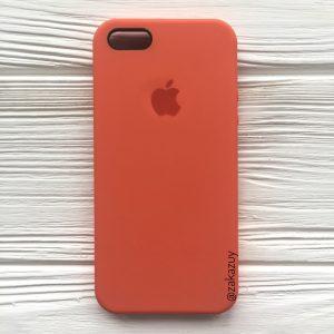 Оригинальный силиконовый чехол (Silicone case) для Iphone 5 / 5s / SE (Light Orange) №11