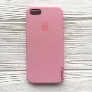 Оригинальный чехол Silicone Case с микрофиброй для Iphone 5 / 5s / 5c / SE №35 (Pink)