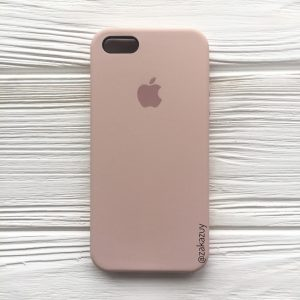 Оригинальный чехол Silicone Case с микрофиброй для Iphone 5 / 5s / 5c / SE №8 (Powder)