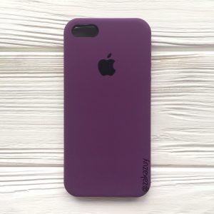Оригинальный чехол Silicone Case с микрофиброй для Iphone 5 / 5s / 5c / SE №28 (Purple)