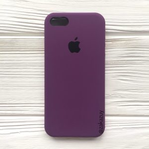 Оригинальный чехол Silicone Case с микрофиброй для Iphone 5 / 5s / 5c / SE №28 (Purple)