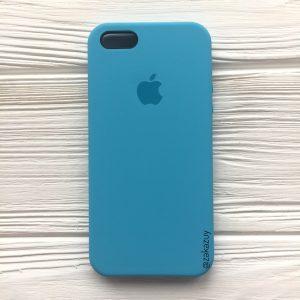 Оригинальный чехол Silicone Case с микрофиброй для Iphone 5 / 5s / 5c /SE №20 (Royal Blue)