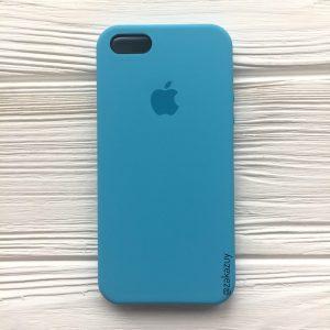 Оригинальный чехол Silicone Case с микрофиброй для Iphone 5 / 5s / SE №20 (Royal Blue)