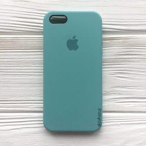 Оригинальный чехол Silicone Case с микрофиброй для Iphone 5 / 5s / SE №23 (Mint)