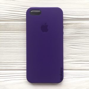 Оригинальный чехол Silicone Case с микрофиброй для Iphone 5 / 5s / 5c / SE №2 (Ultra Violet)