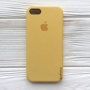 Оригинальный силиконовый чехол (Silicone case) для Iphone 5 / 5s / SE (Yellow) №13