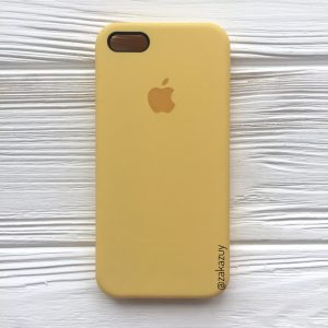 Оригинальный чехол Silicone Case с микрофиброй для Iphone 5 / 5s / 5c / SE №13 (Yellow)