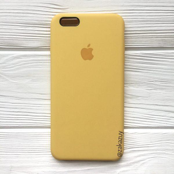 Оригинальный чехол Silicone Case с микрофиброй для Iphone 6 Plus / 6s Plus №13 (Yellow)