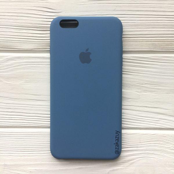 Оригинальный силиконовый чехол (Silicone case) для Iphone 6 Plus / 6s Plus (Azure) №36