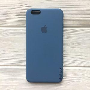 Оригинальный чехол Silicone Case с микрофиброй для Iphone 6 Plus / 6s Plus №36 (Azure)