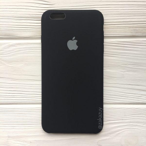 Оригинальный силиконовый чехол (Silicone case) для Iphone 6 Plus / 6s Plus (Black) №7