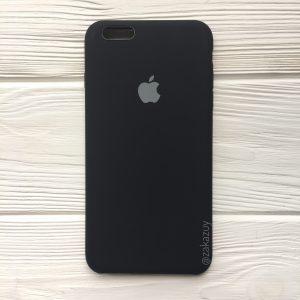 Оригинальный чехол Silicone Case с микрофиброй для Iphone 6 Plus / 6s Plus №7 (Black)
