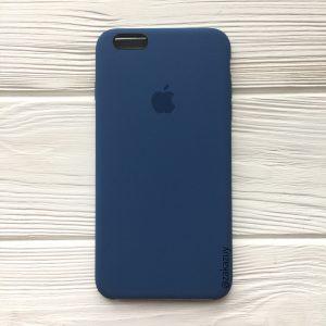 Оригинальный силиконовый чехол (Silicone case) для Iphone 6 Plus / 6s Plus (Dark Blue) №22