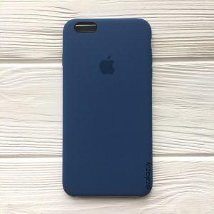 Оригинальный чехол Silicone Case с микрофиброй для Iphone 6 Plus / 6s Plus №22 (Dark Blue)