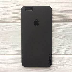 Оригинальный силиконовый чехол (Silicone case) для Iphone 6 Plus / 6s Plus (Dark Brown) №19