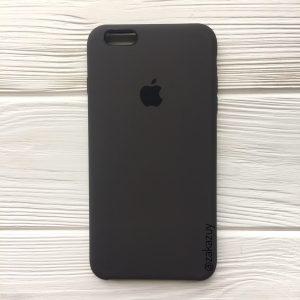 Оригинальный чехол Silicone Case с микрофиброй для Iphone 6 Plus / 6s Plus №19 (Dark Brown)