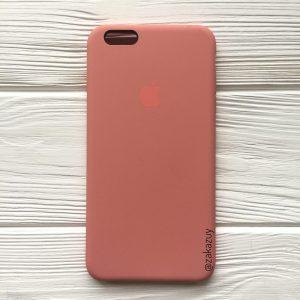 Оригинальный чехол Silicone Case с микрофиброй для Iphone 6 Plus / 6s Plus №25 (Flamingo)