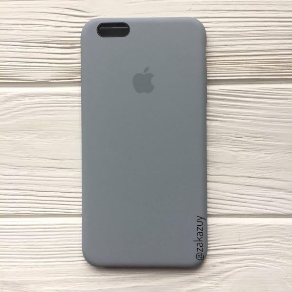 Оригинальный силиконовый чехол (Silicone case) для Iphone 6 Plus / 6s Plus (Light Blue) №33