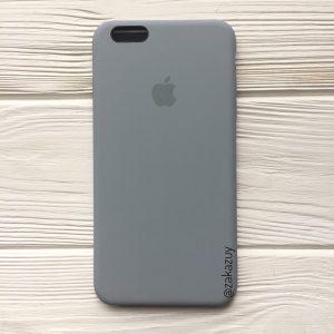 Оригинальный чехол Silicone Case с микрофиброй для Iphone 6 Plus / 6s Plus №33 (Light Blue)
