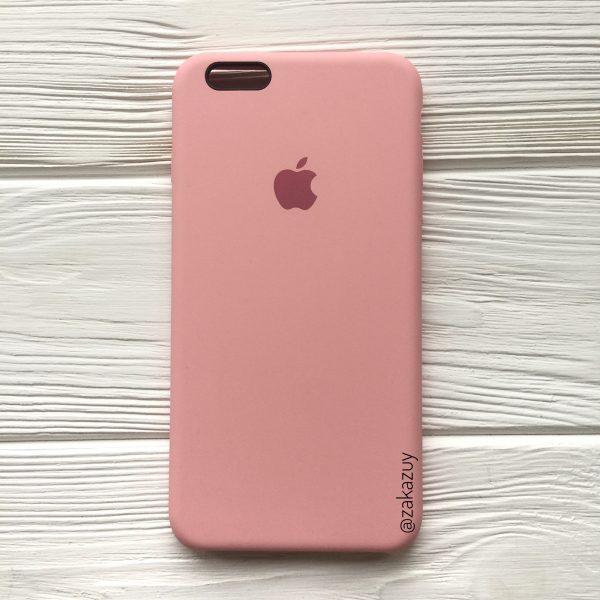 Оригинальный силиконовый чехол (Silicone case) для Iphone 6 Plus / 6s Plus (Light Pink) №14