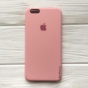 Оригинальный чехол Silicone Case с микрофиброй для Iphone 6 Plus / 6s Plus №14 (Light Pink)