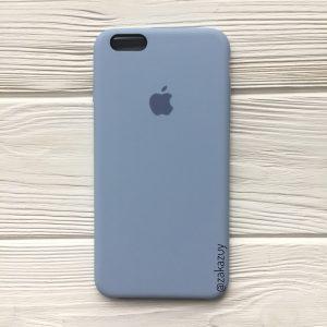 Оригинальный чехол Silicone Case с микрофиброй для Iphone 6 Plus / 6s Plus №15 (Lilac cream)