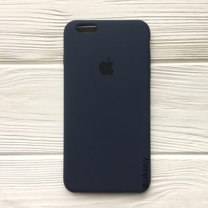 Оригинальный чехол Silicone Case с микрофиброй для Iphone 6 Plus / 6s Plus №9 (Navy Blue)