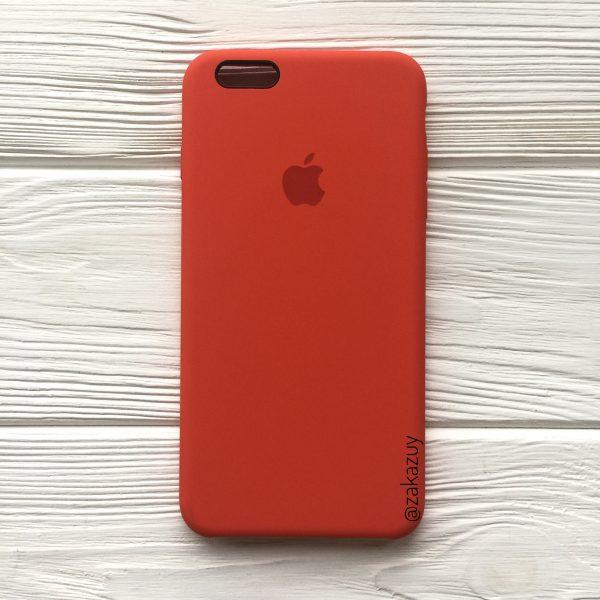 Оригинальный силиконовый чехол (Silicone case) для Iphone 6 Plus / 6s Plus (Orange) №18