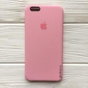 Оригинальный чехол Silicone Case с микрофиброй для Iphone 6 Plus / 6s Plus №35 (Pink)