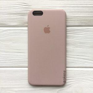 Оригинальный чехол Silicone Case с микрофиброй для Iphone 6 Plus / 6s Plus №8 (Powder)