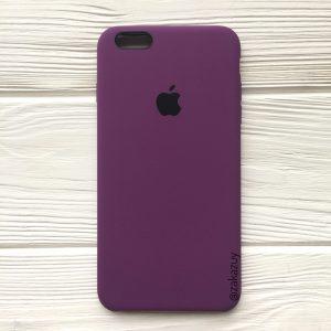 Оригинальный чехол Silicone Case с микрофиброй для Iphone 6 Plus / 6s Plus №28 (Purple)