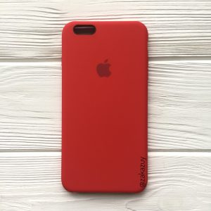Оригинальный чехол Silicone Case с микрофиброй для Iphone 6 Plus / 6s Plus №5 (Red)