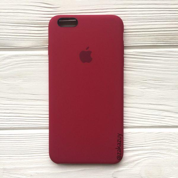 Оригинальный силиконовый чехол (Silicone case) для Iphone 6 Plus / 6s Plus (Rose Red) №4