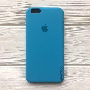 Оригинальный чехол Silicone Case с микрофиброй для Iphone 6 Plus / 6s Plus №20 (Royal Blue)