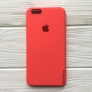 Оригинальный чехол Silicone Case с микрофиброй для Iphone 6 Plus / 6s Plus №31 (Ultra Coral)