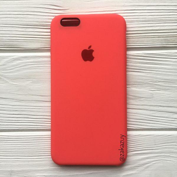 Оригинальный силиконовый чехол (Silicone case) для Iphone 6 Plus / 6s Plus (Ultra Coral) №31