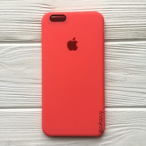 Оригинальный чехол Silicone Case с микрофиброй для Iphone 6 / 6s №31 (Ultra Coral)