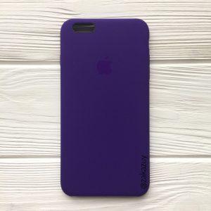 Оригинальный чехол Silicone Case с микрофиброй для Iphone 6 Plus / 6s Plus №2 (Ultra Violet)
